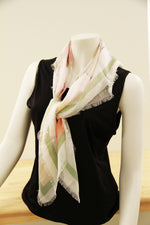 Cindy's White Horses- Small Silk Scarf