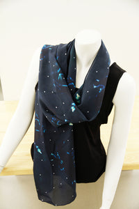 Midnight Rider- Traditional Silk Scarf