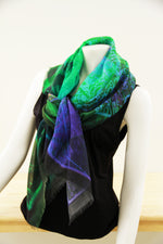 Abstract Emerald- Small Silk Scarf