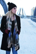 Blue/Black Block- Pashmina Scarf