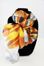 Yellow Heart Traditional- Large Silk Scarf