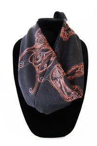 Larry's Horses- Small Silk Scarf