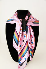 Pink Triple Crown- Small Silk Scarf