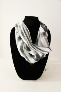 Black White Traditional Scarf