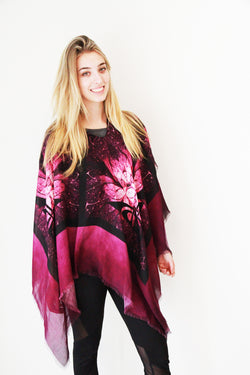 Purple Lotus Poncho