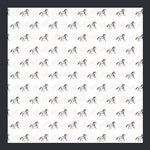 White Blue Horses- Mini Silk Scarf