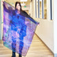 Abstract Purple Large Square Scarf