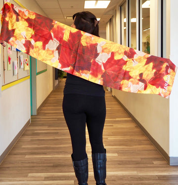 Maple Leaf Traditional Scarf