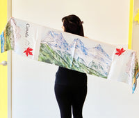 Canadian Mountain/Three Sisters- Traditional Silk Scarf