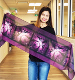 Purple Lotus Traditional Scarf