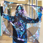 Blue Stained Glass Small Square Scarf