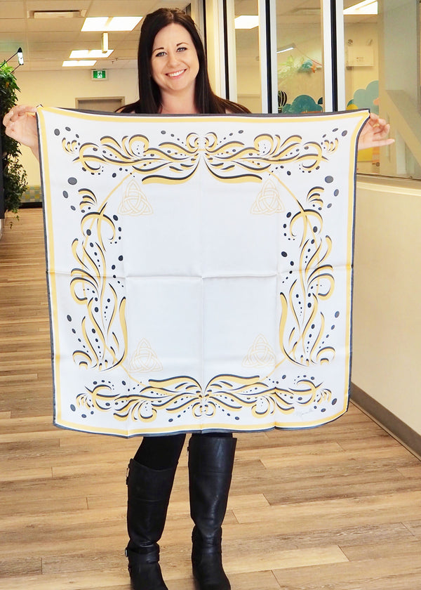 Marcy's Gold- Small Silk Scarf