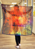 Abstract Orange Green Gold Mega Scarf