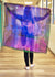 Abstract Purple- Silk Mega Wrap