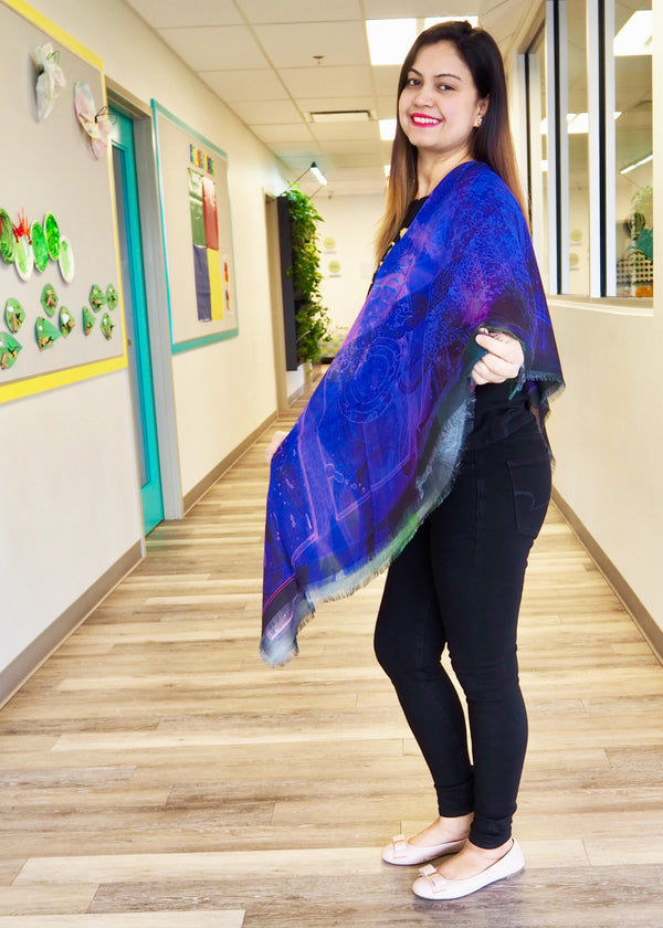 Abstract Purple Mega Scarf