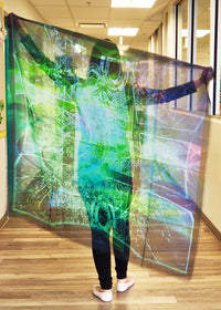 Abstract Green Mega Scarf