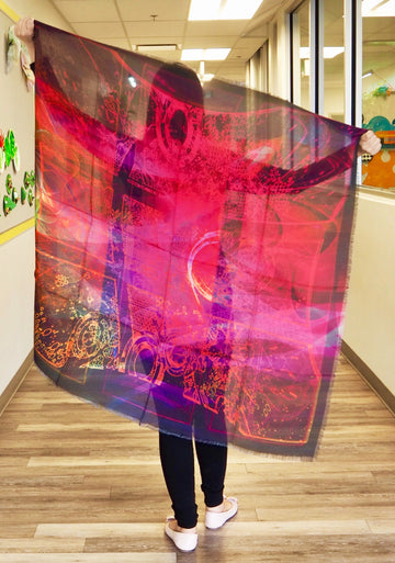 Abstract Pink Mega Scarf