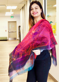 Abstract Pink- Silk Mega Wrap