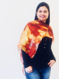 Maple Leaf Small Square Scarf