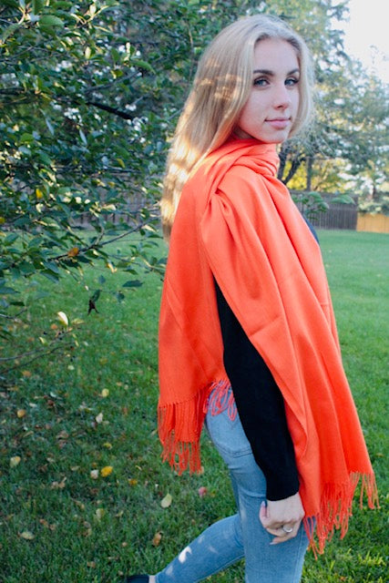 Orange- Cashmere Scarf