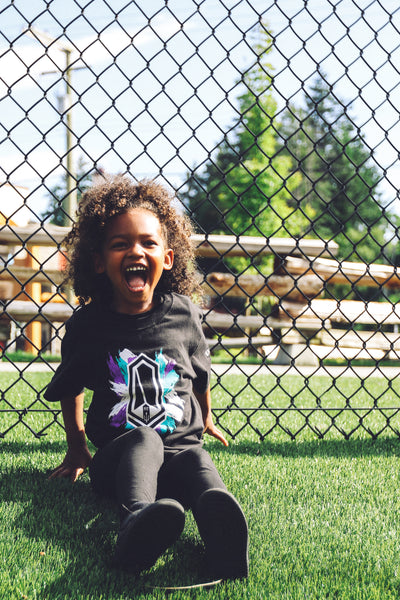 Kids' Black T-Shirt - Splash Logo