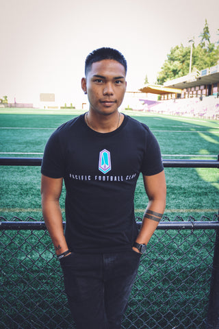 "Black ""Pacific Football Club"" T-Shirt"
