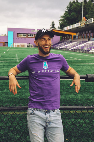 "Purple ""Pacific Football Club"" T-Shirt"