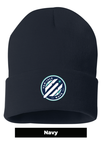 Wave Embroidered Toque