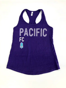"Women's ""Pacific FC"" Purple tank top"