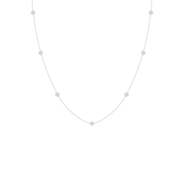 14K Solid Gold Meaningful Gold By The Yard Love Necklace White Gold
