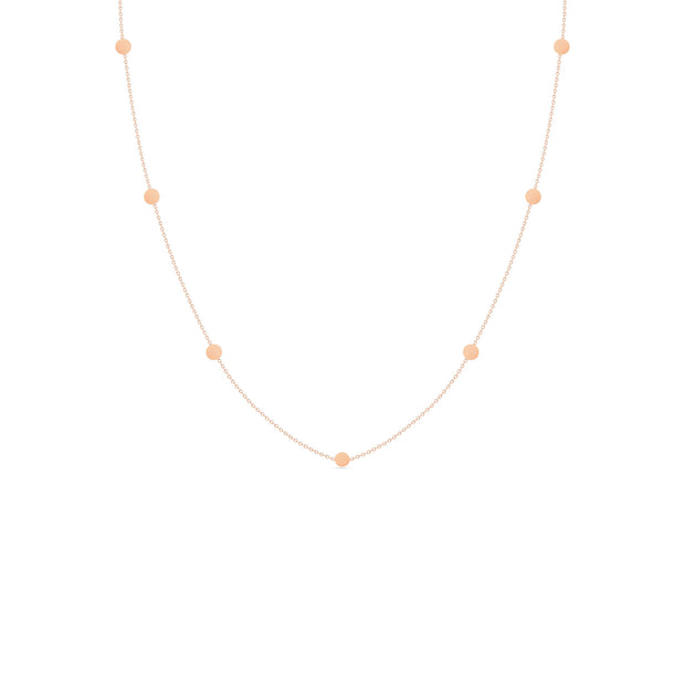 14K Solid Gold Meaningful Gold By The Yard Love Necklace Rose Gold
