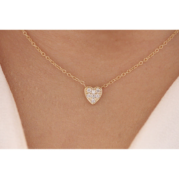 14K Solid Gold Small Sweetheart Necklace Model 1