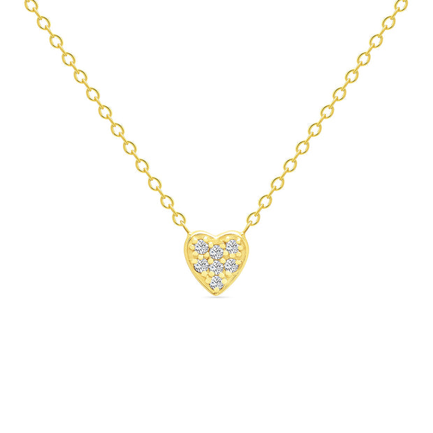14K Solid Gold Small Sweetheart Necklace