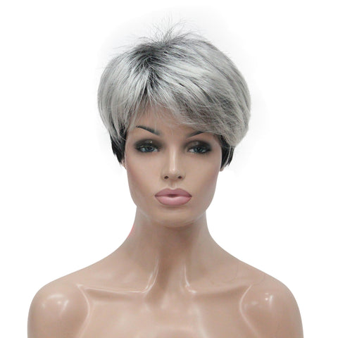 Strongbeauty Women s Short Top Quality Synthetic Hair Wigs Gray wigs -  Strongbeauty c2a863a3f6