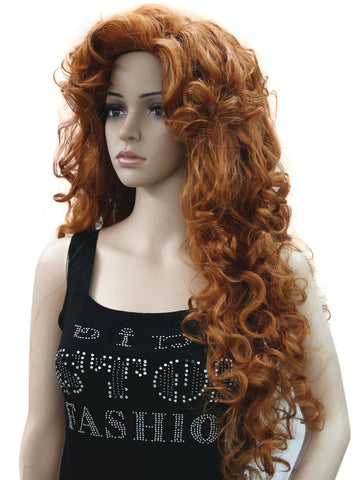 Strongbeauty Women s wig Long Curly Hairstyles Hair Synthetic Full Wigs 34dee02d9