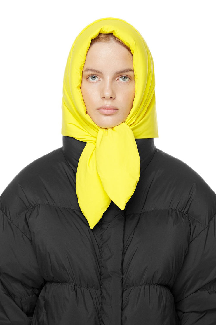 Пуховый шарф Hustka Hood Lime Yellow