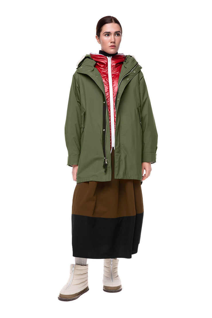 lenki leki womens parka black for winter in nylon