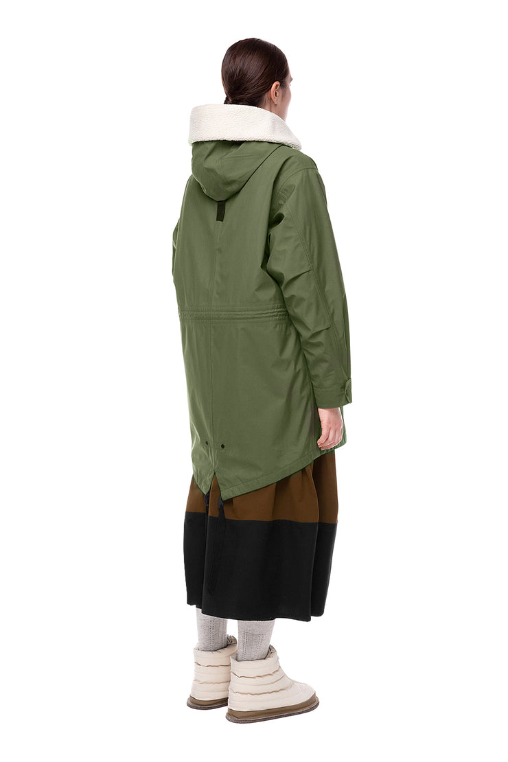 IENKI IENKI Parka Cell Pad Olive for Women
