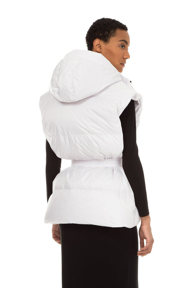 yenki woman down vest white