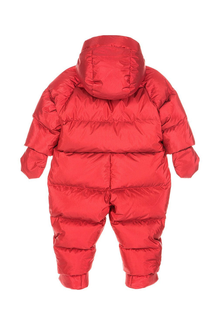 Ienki Kid's Puffer Overall Electric Red