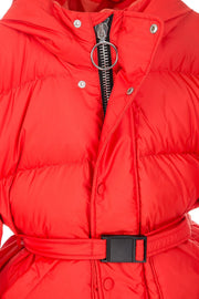 Yenki kids belted Puffer fiery red