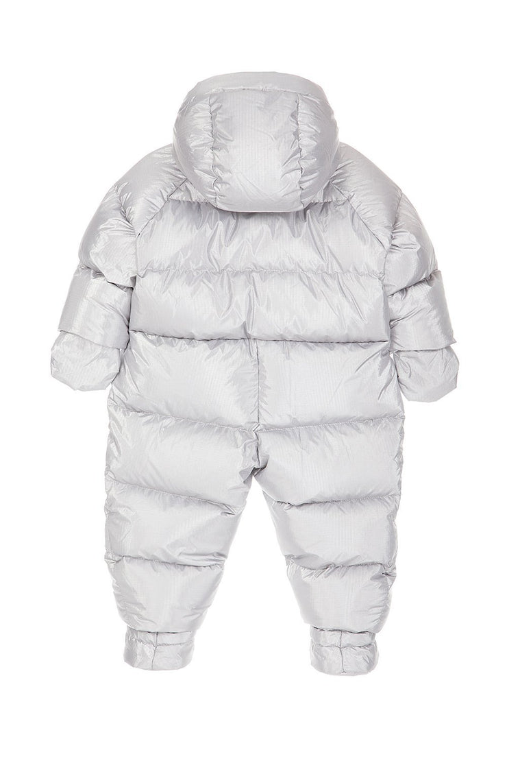 Ienki Kid's Puffer Overall Electric Silver
