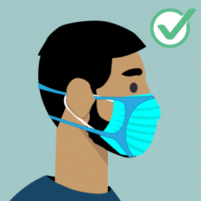How to wear face mask for people with a beard
