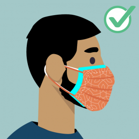 How to wear face mask for people with a beard (double-masking)