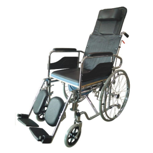 Steel Folding Reclining Wheelchair (Ready stock- Call for Buy)