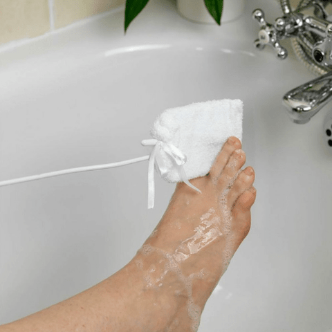 Towelling Toe Washer