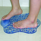 Bath Mat with Foot Cleaner