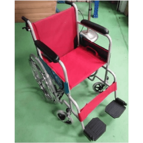 18 Inch Standard Wheelchair (RED) [Ready stock- Call to Buy]