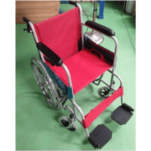 18 Inch Standard Wheelchair (RED) [Ready stock- Call to Buy] - SM Health Care