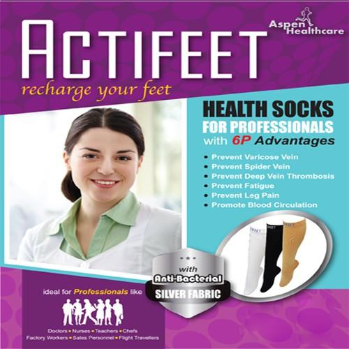 Actifeet Health Socks (White)